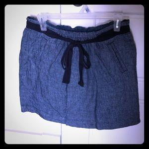 Linen denim skirt